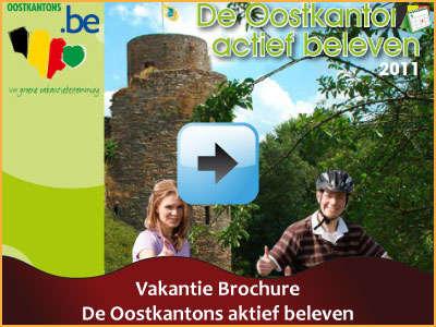 Vakantie brochure - De Oostkantons aktief beleven (104 pagina's) via www.feestdagen-belgie.be