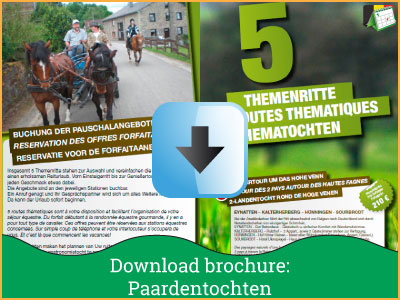Vakantie brochure - Paardentochten (2 pagina's) via www.feestdagen-belgie.be