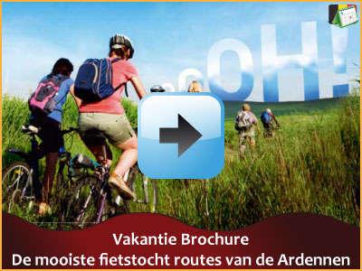 Vakantie brochure - De mooiste fietstochten van de Ardennen (15 pagina's) via www.feestdagen-belgie.be