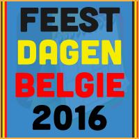 De datums van de Belgische feestdagen voor het kalender jaar 2016 via http://www.feestdagen-belgie.be/