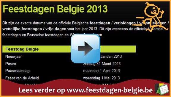 Feestdagen Belgie 2013 via www.feestdagen-belgie