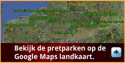 Handige landkaart met alle Belgische pretparken via www.feestdagen-belgie.be
