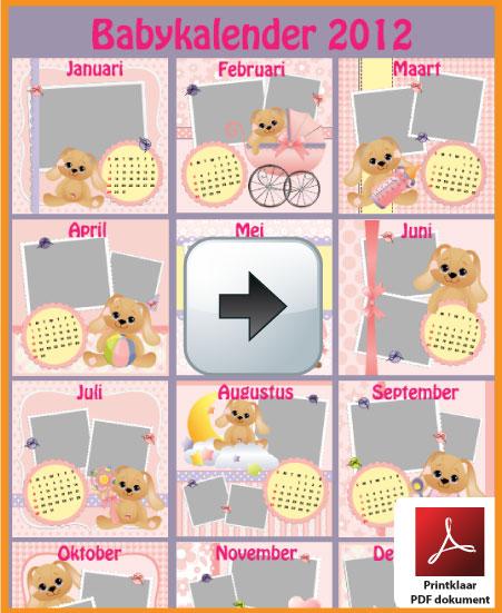 Gratis babykalender 2012 incl de Belgie feestdagen en schoolvakanties. via www.feestdagen-belgie.be