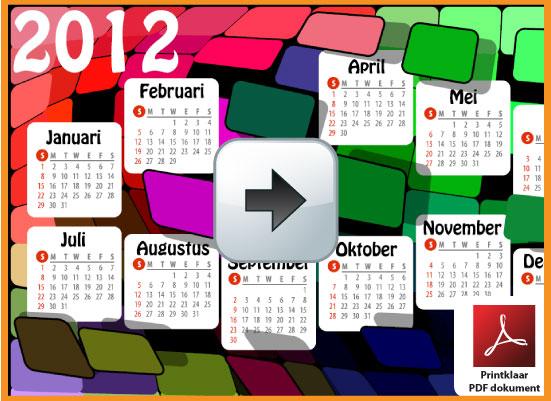 Gratis jaarkalender 2012 incl de Belgie feestdagen en schoolvakanties. Intense Kleuren. via www.feestdagen-belgie.be