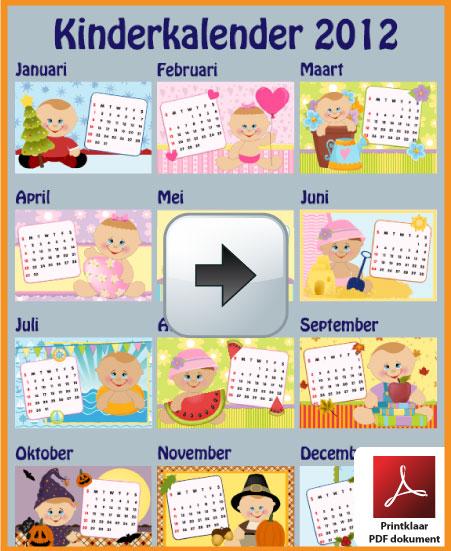 Gratis kinderkalender 2012 incl de Belgie feestdagen en schoolvakanties via www.feestdagen-belgie.be