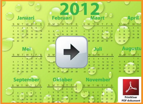Gratis jaarkalender 2012 incl de Belgie feestdagen en schoolvakanties. Zachte Kleuren. via www.feestdagen-belgie.be