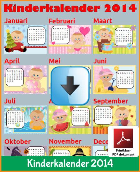 Gratis jaarkalender 2014 kinderkalender met de Belgie feestdagen en schoolvakanties (download kalender 2014) via www.feestdagen-belgie.be