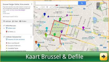Google Landkaart met alle locaties en adressen van de Nationale Feestdag Brussel via www.feestdagen-belgie.be