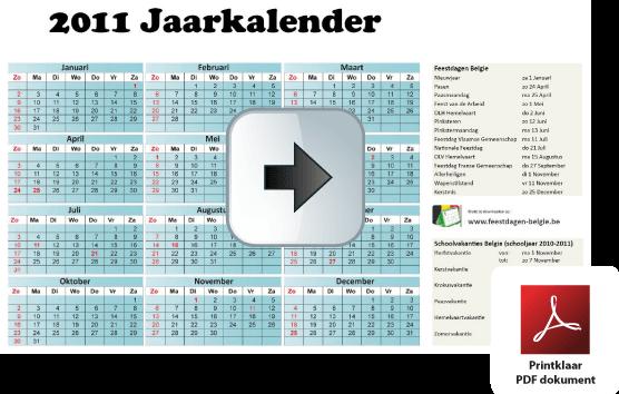 jaar-kalender-2011-belgie-feestdagen-schoolvakanties-fullcolor-formaat-din-a3.pdf via www.feestdagen-belgie.be