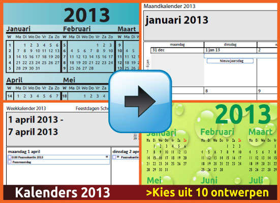 Kalenders 2013 Gratis Downloaden en Printen via www.feestdagen-belgie.be