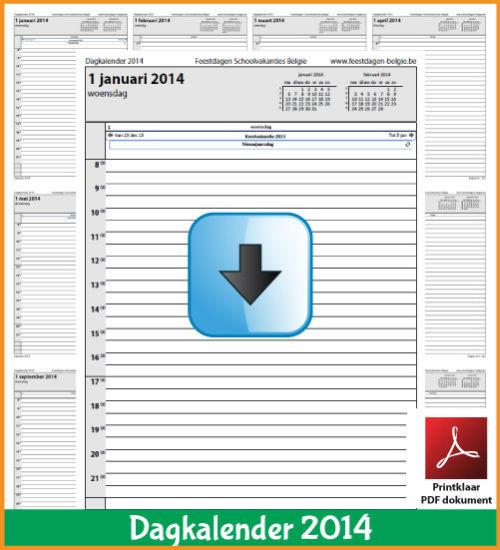 Gratis dagkalender 2014 met de Belgie feestdagen en schoolvakanties. (download kalender 2014) via www.feestdagen-belgie.be