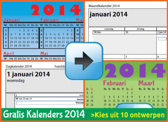 Kalenders 2014 Gratis Downloaden en Printen via www.feestdagen-belgie.be