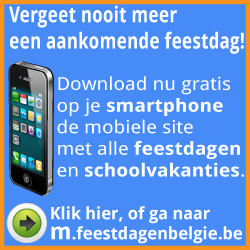 Vergeet nooit meer een aankomende feestdag. Download nu op je smartphone deze mobile site
