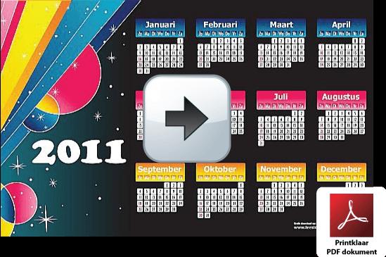 jaar-kalender-2011-belgie-feestdagen-schoolvakanties-fullcolor-modern-intense-kleuren.pdf via www.feestdagen-belgie.be