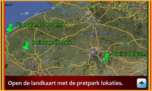 Halloween 2012 Landkaart met de pretparken via www.feestdagen-belgie.be