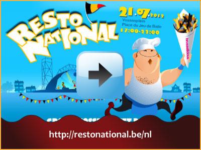 Resto National 21 juli 2012 17:00h Vossenplein Brussel via www.feestdagen-belgie.be