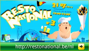 Programma van het Resto National op het Vossenplein, Brussel via www.feestdagen-belgie.be