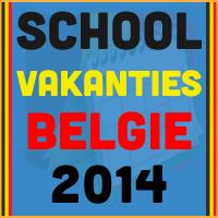 De datums van de Belgische schoolvakanties voor het kalender jaar 2014 via http://www.feestdagen-belgie.be/