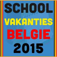 De datums van de Belgische schoolvakanties voor het kalender jaar 2015 via http://www.feestdagen-belgie.be/
