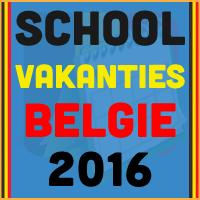 De datums van de Belgische schoolvakanties voor het kalender jaar 2016 via http://www.feestdagen-belgie.be/