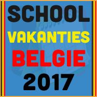 De datums van de Belgische schoolvakanties voor het kalender jaar 2017 via http://www.feestdagen-belgie.be/
