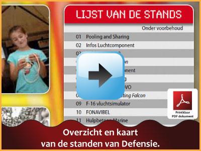 Een overzicht van alle standen en kraampjes van Defensie via www.feestdagen-belgie.be