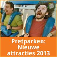 Ontdek de nieuwe attracties van de pretparken van Belgie voor het jaar 2013. via http://www.feestdagen-belgie.be/