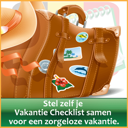 Inpaklijst vakantie meenemen via http://www.feestdagen-belgie.be/