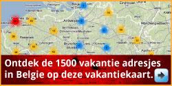 Kaart overnachting in de buurt van een pretpark via www.feestdagen-belgie.be