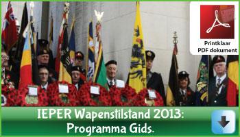 Ieper: het Wapenstilstand Programma 2013 via www.feestdagen-belgie.be