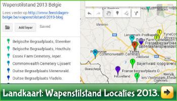 Landkaart Wapenstilstand  via www.feestdagen-belgie.be