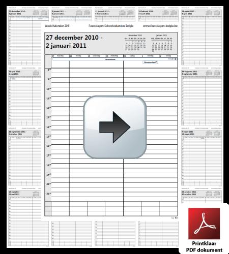 week-kalender-2011-belgie-feestdagen-schoolvakanties-agenda-gratis-download.pdf via www.feestdagen-belgie.be