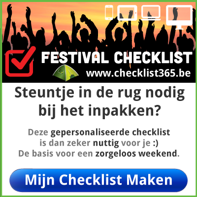Wat meenemen op festival weekend via www.infozine.be